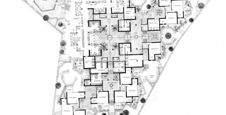 1968 plan d'architecte Chateau Kafka - appartements